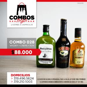 CBGA028 – Ron Viejo de Caldas Tradicional + Crema de Whisky Baileys + Whisky Black & White 8 años
