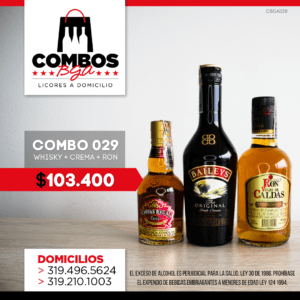 CBGA029 – Ron Viejo de Caldas Tradicional + Crema de Whisky Baileys + Whisky Chivas Regal Extra