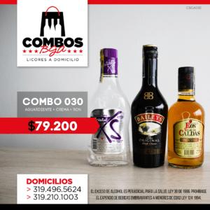 CBGA030 – Ron Viejo de Caldas Tradicional + Crema de Whisky Baileys + Aguardiente Cristal