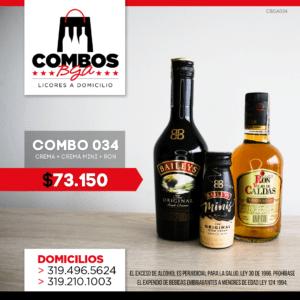 CBGA034 – Ron Viejo de Caldas Tradicional + Crema de Whisky Baileys + Crema de Whisky Baileys Mini