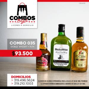CBGA035 – Ron Viejo de Caldas Tradicional + Whisky Black & White 8 años + Whisky Chivas Regal Extra