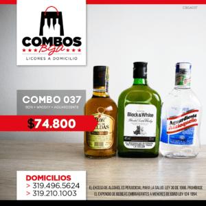 CBGA037 – Ron Viejo de Caldas Tradicional + Whisky Black & White 8 años + Aguardiente Antioqueño