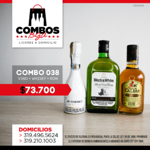 CBGA038 – Ron Viejo de Caldas Tradicional + Whisky Black & White 8 años + JP Chenet